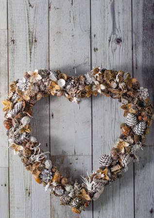 Beautiful advent wreaths all homemade from nature supply Stok Fotoğraf