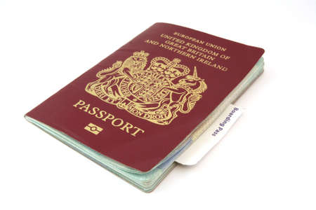 authorisation: A passport with a boarding card protruding