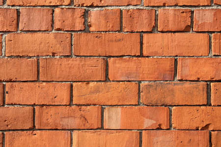 redbrick: Section of red-brick wall for use as background or texture