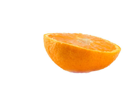 citrous: Half an orange isolated against a white background