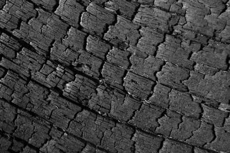 Section of burnt log for use as background or texture Stock Photo - 9155311