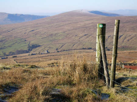 fells: View of the Fells around Dent railway station in Cumbria, UK