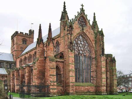 cumbria: view of Carlisle Cathedral, Cumbria, UK Stock Photo