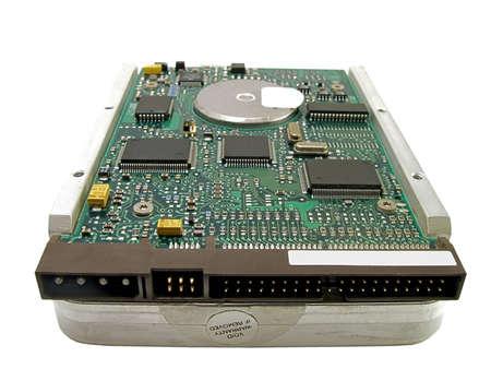 microelectronics: A PC hard drive