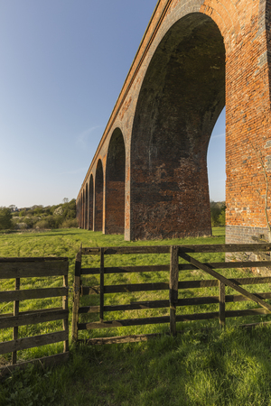 man made structure: image showing an old  railway viaduct which was opened in 1879 and closed in 1962, built near John O