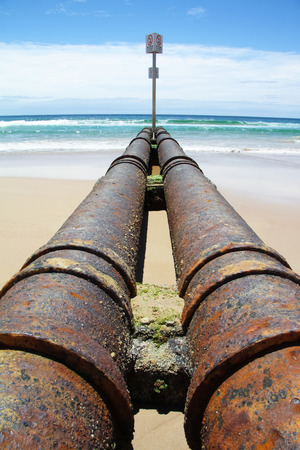 going for it: Sewage Pipes Heading out to Sea