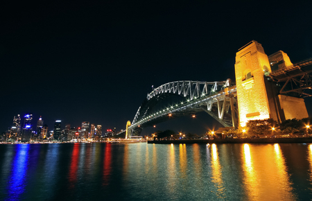 going for it: Sydney Harbour Bridge at Night