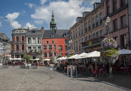 walloon: grand place at mons in belgium