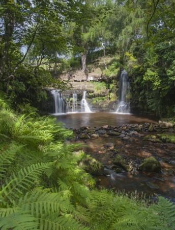 moorland: yorkshire moorland waterfall Stock Photo
