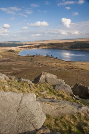 moorland: boulders on yorkshire moorland