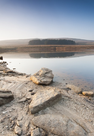 moorland: Shallow Yorkshire moorland reservoir