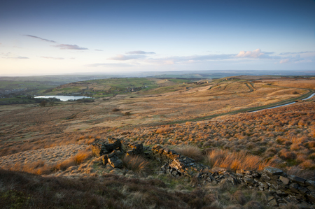 uplands: yorkshire dales autumn view