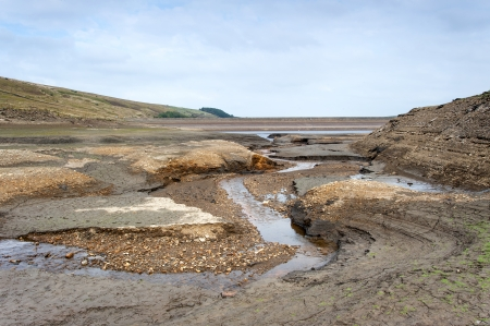 dried up: dried up drinking water reservoir