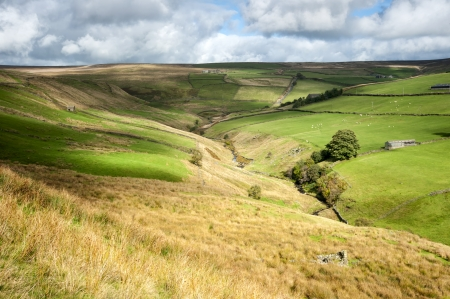 dales: cloud patterns on dales valley Stock Photo