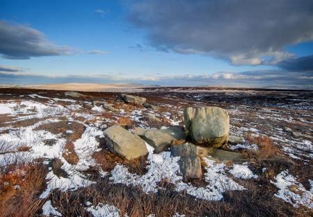 moorland: winter moorland scene