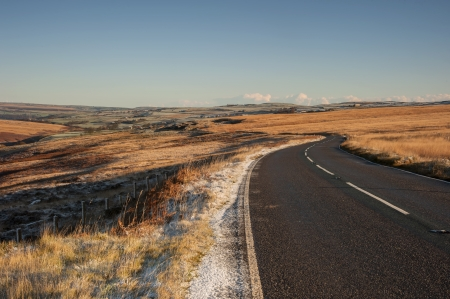 uplands: cragg road,calderdale britains longest continual climb Stock Photo