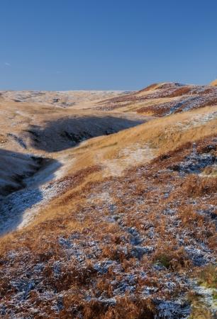 moorland: frosty moorland scenery in yorkshire Stock Photo