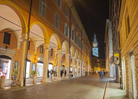 Modena in  Via Emilia, Italy Editorial