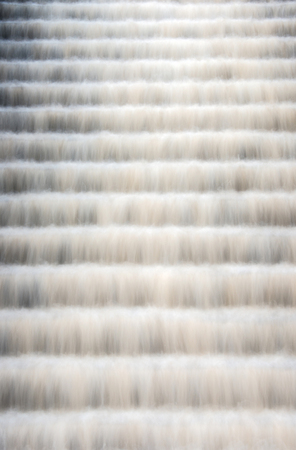 concrete steps: Water from a drinking water supply reservoir cascading down a set of concrete steps towards the treatment plant