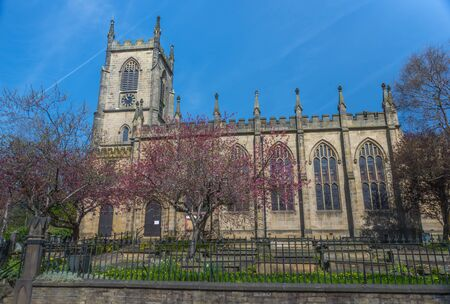 christ church: Christ Church at the junction of Tuel Lane and Wharfe Street, Sowerby Bridge in Calderdale, West Yorkshire