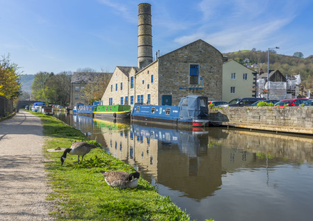 rambling: The pretty tourist town of Hebden Bridge in the South Pennine region of West Yorkshire