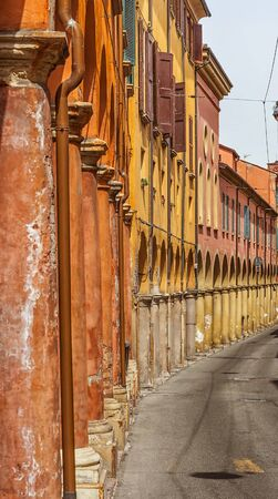 General views of the streets and architecture of the italian city of Bologna