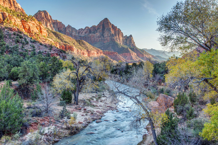 a watchman: Autumn sunset on the Watchman, Zion