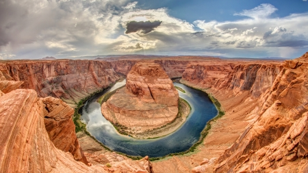 Horseshoe Bend, Arizona 版權商用圖片