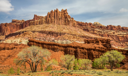 The Castle, rock formation in Capitol reef National Park