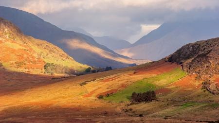 connemara: Valley of shadows in Connemara, Ireland