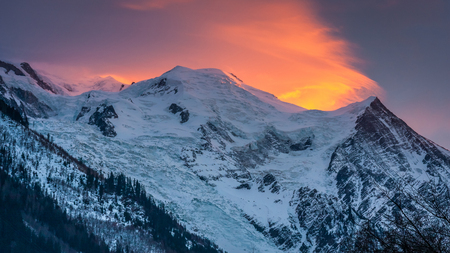 Mount Blanc at sunset, France