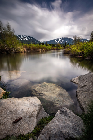 Moody River Of Golden Dreams in Whistler, British Columbia, Canada