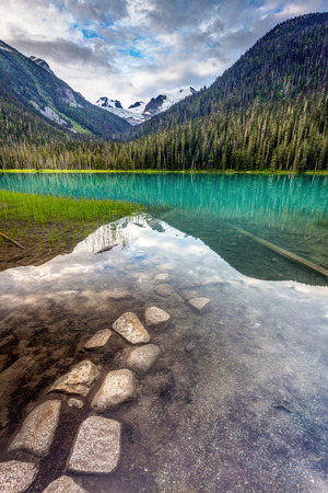 A path just beneath the surface at lower Joffre Lake, British Columbia, Canada.
