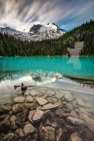 Joffre Lake Middle, high in the alpine wilderness of British Columbia, Canada