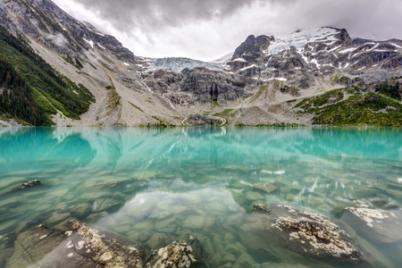 Super Natural British Columbia. Stunning landscape and natural beauty of upper joffre lake in the wilderness of British Columbia, Canada.