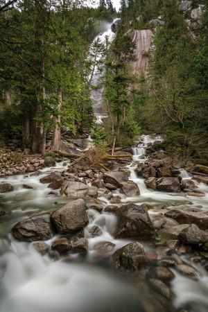 Shannon Falls in Squamish, British Columbia, Canada.