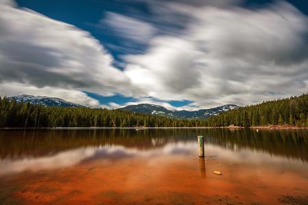 Lost Lake Beach in Whistler, British Columbia, Canada