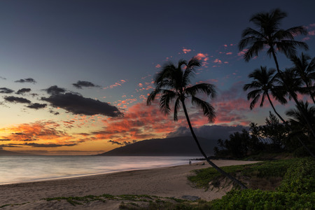 Beautiful Charley Young Beach Sunset on the tropical Island of Maui, Hawaii.