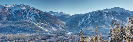 Whistler Blackcomb, british Columbia, Canada, on a sunny winter day after a fresh snowfall. Worlds #1 Ski Resort and 2010 winter Olympics Host.
