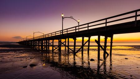 White Rock Pier at sunset, British Columbia, Canada