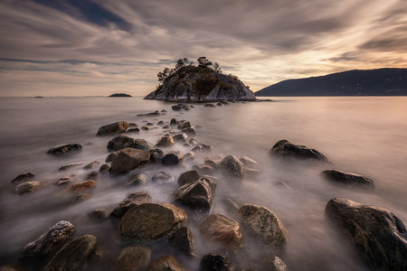 seascape long exposure at Whytecliff Park, West Vancouver, British Columbia, Canada