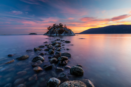 Sunset at Whytecliff Park, West Vancouver, British Columbia, Canada