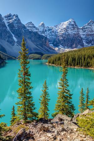Moraine Lake, Banff National Park, Alberta, Canada. 版權商用圖片