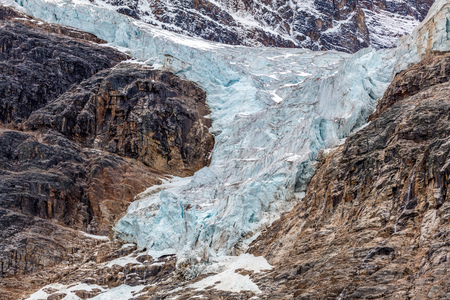 Angel Glacier of Mount Edith Cavell in Jasper National Park, Alberta , Canada.