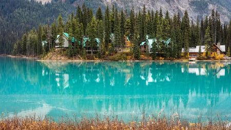 Emerald Lake, yoho National Park, British Columbia, Canada 版權商用圖片 - 104951989