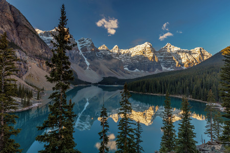 Majestic Moraine Lake in Banff National Park, Alberta.