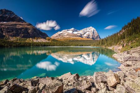 Lake OHara Daydream. Long exposure at Lake OHara in Yoho National Park, British Columbia, Canada