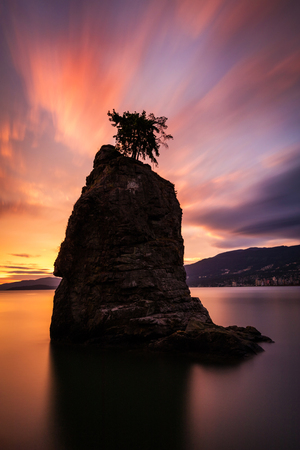 Siwash Rock at Sunset, Vancouver
