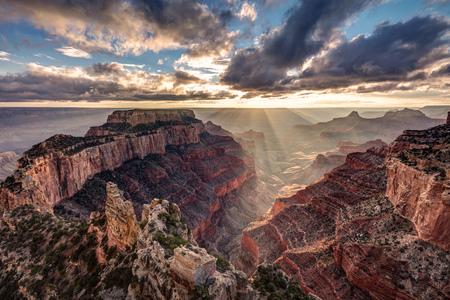 Sun Rays At Cape Royal, North Rim of the Grand Canyon, Arizona