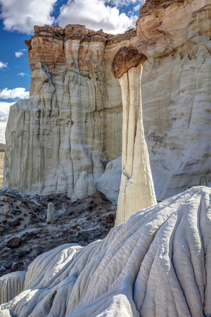 Remote hike to the towers of silence in the desert of Southern Utah